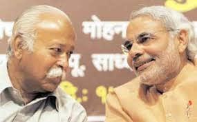 Modi With Bhagwat