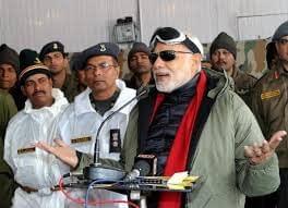 Narendra Modi In Glasiar